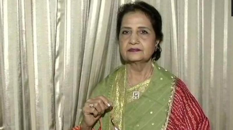 Prime Minister Narendra Modi's rakhi sister Qamar Mohsin Shaikh, like every year, wishes the very best for her brother on Rakha Bandhan being celebrated on Thursday. (Photo: ANI)
