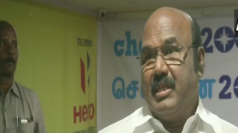 Fisheries Minister D Jayakumar. (Photo: ANI)