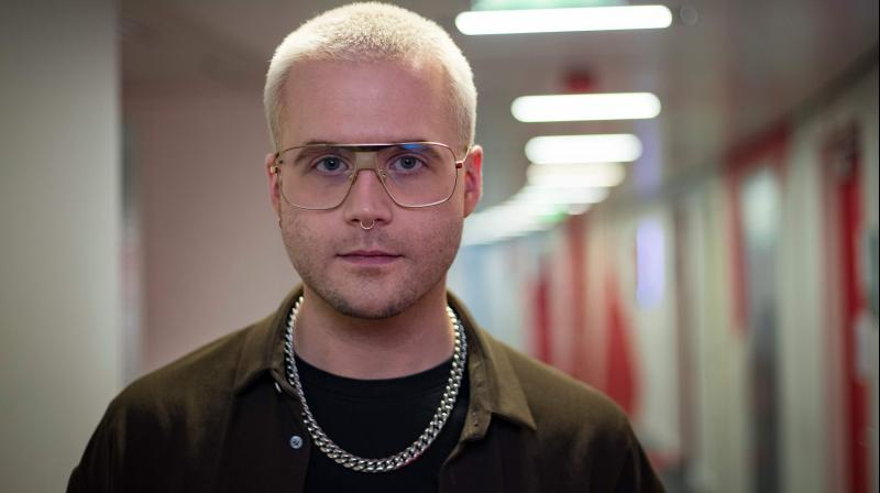 Canadian whistleblower Christopher Wylie poses in Paris, on March 9, 2020. The publication in French of