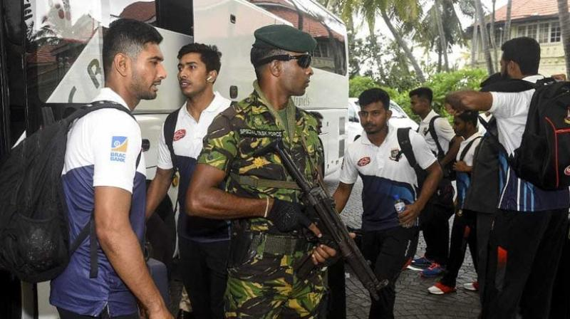 The Bangladesh cricket team arrived in Sri Lanka amid tight security on Saturday, the first foreign sporting side to visit the island since the deadly Easter attacks earlier this year. (Photo:AFP)