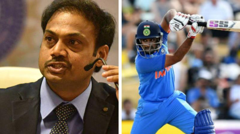 Ambati Rayudu Rayudu, who was till January being touted as India's No 4 for the World Cup, lost the spot to Tamil Nadu all-rounder Vijay Shankar, who was termed as a 'three dimensional player' by MSK Prasad. (Photo:AFP)