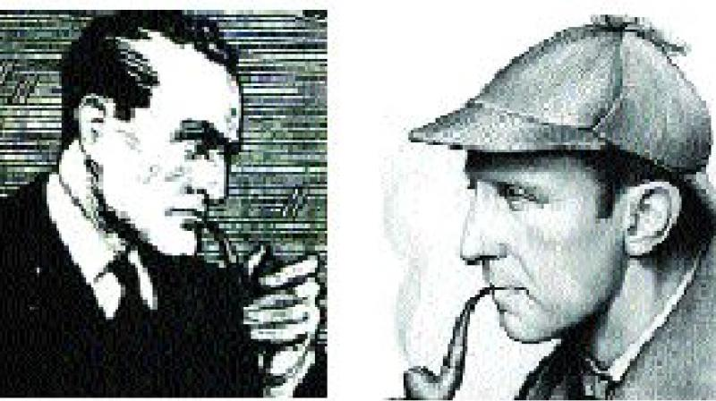 Blake's character is modelled on Holmes (right)