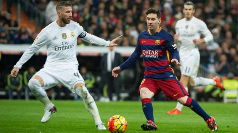 First El Clasico clash of the season between Barca and Madrid on Saturday (Photo: AFP)
