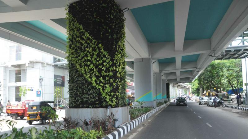 The metro vertical garden is helping the city with waste management.