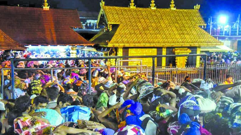 Sabarimala virtually turned into a fortress with hundreds of police personnel, including armed commandos, dotting the place where surveillance cameras and mobile phone jammers were installed. (Photo: File)