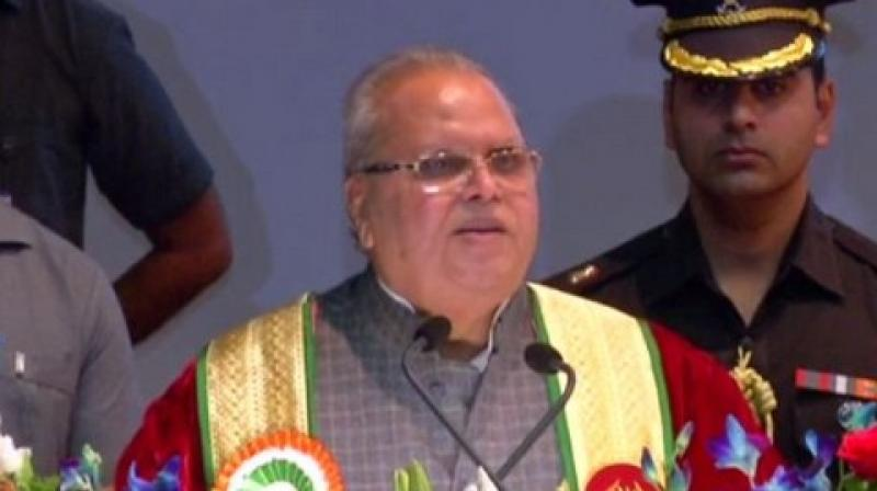 The Governor said that mainstream leaders of Jammu and Kashmir have pushed the youth of the Valley down the path of terrorism towards their death while they have kept their own children away from all the menace. (Photo: ANI)