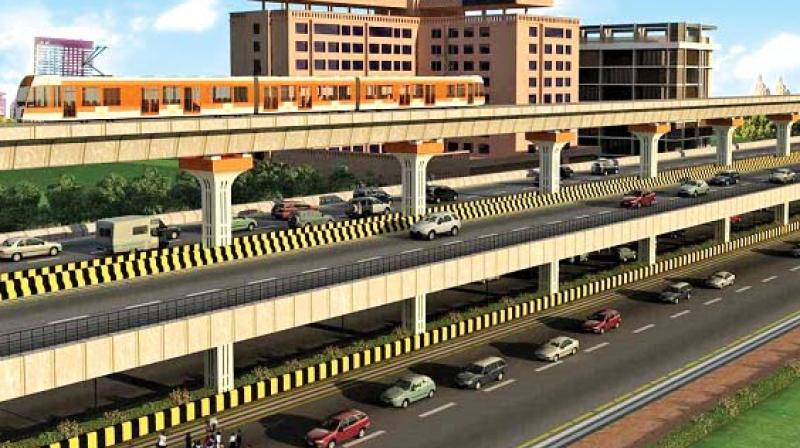 Three flyovers have been planned with the Metro line 4, two flyovers with Metro 9.