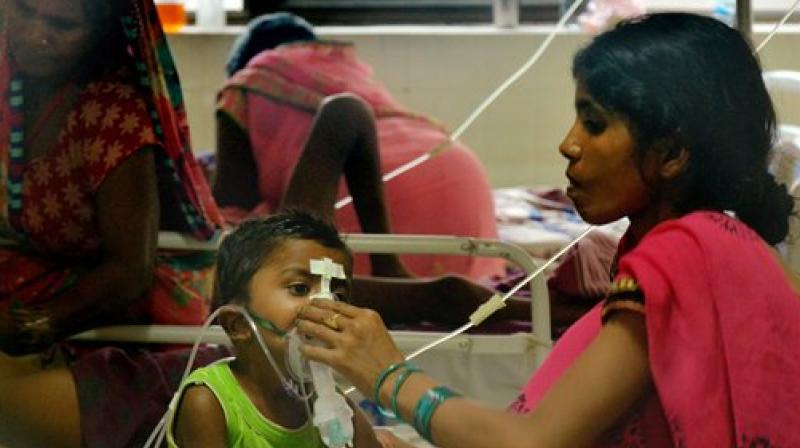 At least 72 children died due to alleged lack of oxygen supply. (Photo: PTI)