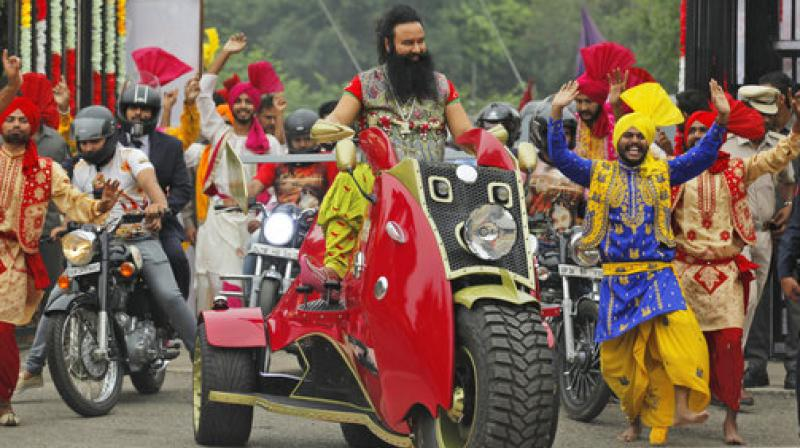The sexual exploitation case was registered against the Dera chief in 2002 by the CBI on the directions of the Punjab and Haryana High Court after anonymous letters were circulated about the alleged sexual exploitation of two 'sadhvis' (female followers) by Ram Rahim Singh. (Photo: AP)