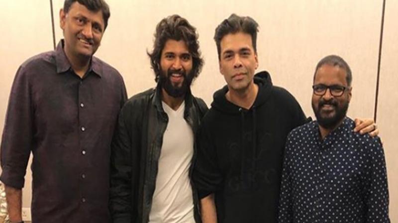 Vijay Deverakonda with Karan Johar. (Photo: Instagram)
