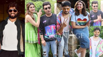 Indian celebrities like Vijay Deverakonda, Kriti Sanon, Varun Sharma, Diljit Dosanjh, Sidharth Malhotra, Parineeti Chopra, Malaika Arora and others were snapped in various parts of the city. (Photos: Viral Bhayani)