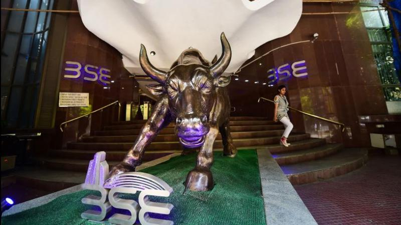 After touching an intra-day high of 48,004.71, the 30-share Sensex was trading 1,660.99 points or 3.59 per cent higher at 47,946.76; and the broader Nifty surged 462.15 points or 3.39 per cent at 14,096.75. (PTI)