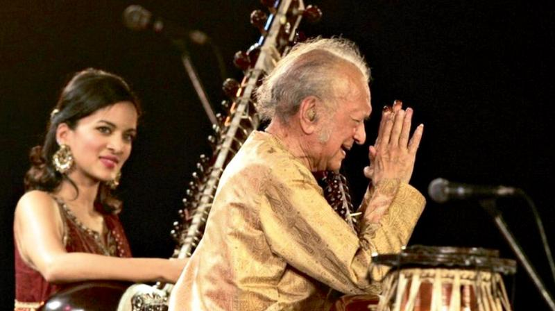 Sitar maestro Ravi Shankar worked on the opera during his last days in hospital. His daughter and disciple Anoushka Shankar completed it after his death in 2012.