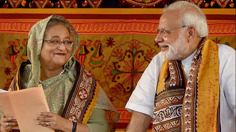 Her remarks come a week after she met Modi in New York and said that the NRC has become a matter of 'great concern' for Bangladeshis. (Photo: PTI)