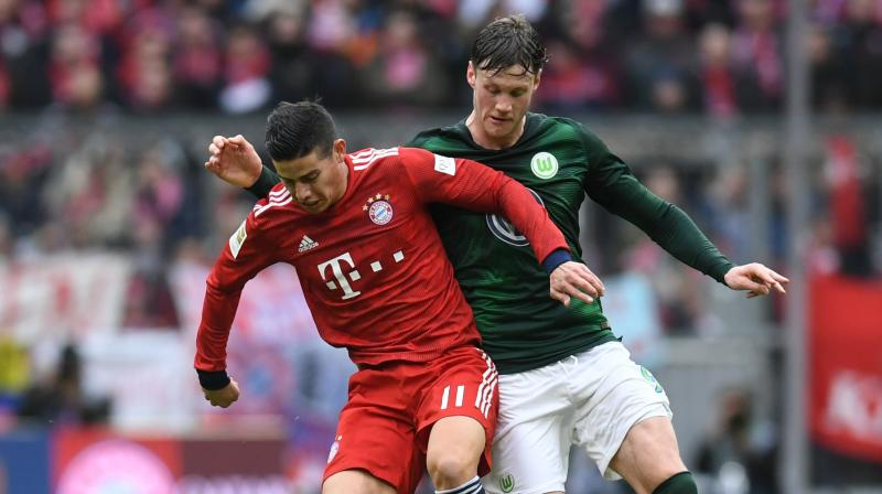 Bayern ran riot in Munich as Robert Lewandowski led the way with two goals as Serge Gnabry, James Rodriguez and Kimmich also netted. (Photo: AFP)