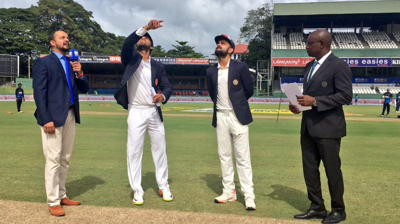 The International Cricket Council was mulling doing away with the flip of the coin during the World Test Championship scheduled to start from July 2019 as part of measures to boost the flagging fortunes of the long format. (Photo: Twitter / BCCI)