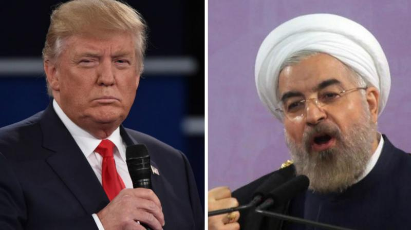 US President Donald Trump and his Iranian counterpart Hassan Rouhani. (Photo: AFP)