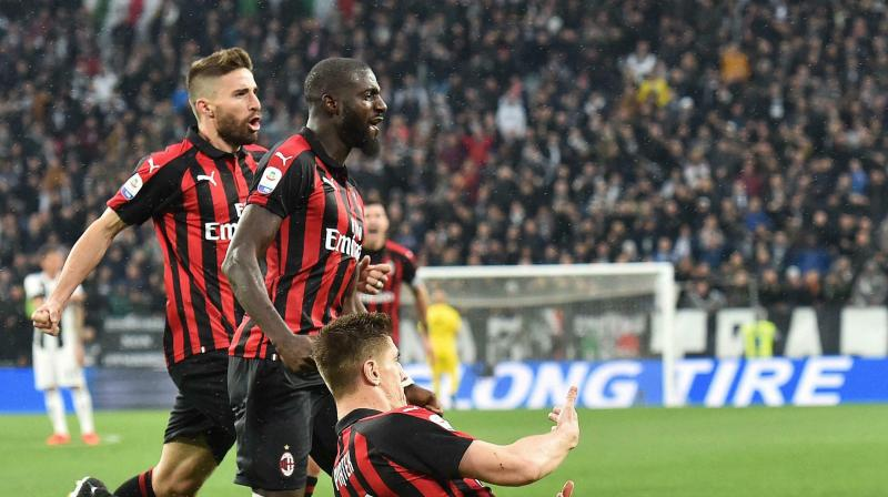 Milan are fourth on 55 points, two behind third-placed Inter Milan, who play at Frosinone on Sunday. (Photo: AP)