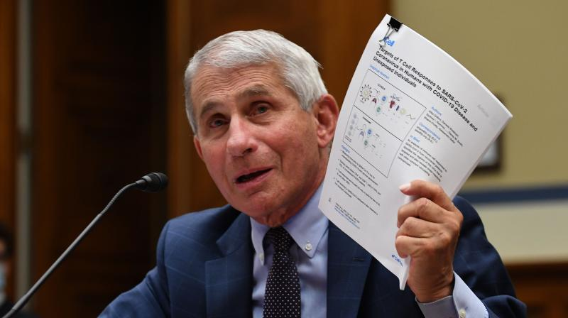 Anthony Fauci, director of the National Institute for Allergy and Infectious Diseases, testifiesduring a House Subcommittee on the Coronavirus Crisis hearing on a national plan to contain the COVID-19 pandemic, on Capitol Hill in Washington, DC. (AFP)