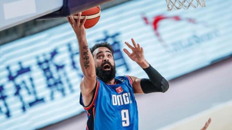 Indian basketball team captain Vishesh Bhriguvanshi. (via Facebook: Vishesh Bhriguvanshi)