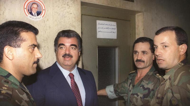 Former Lebanese premier Rafic Hariri in Beirut. (AFP)