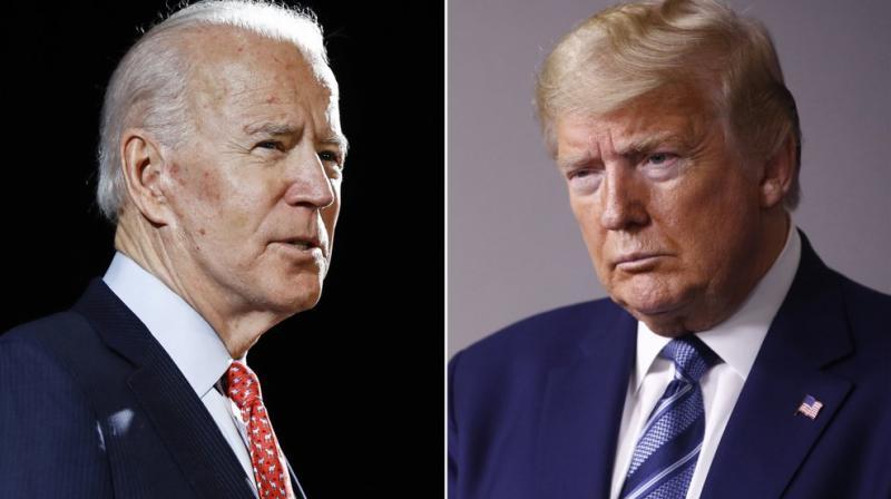 Democratic presidential candidate Joe Biden (left) and US President Donald Trump. (AP)