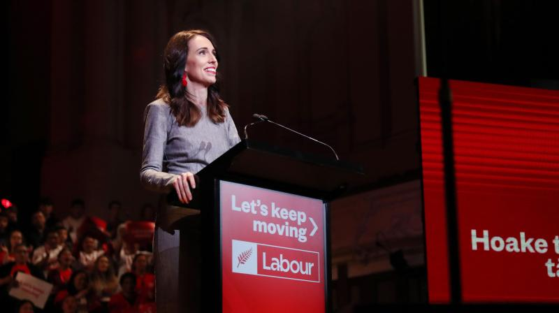 New Zealand's Prime Minister Jacinda Ardern attends the launch of the Labour Party's election campaign in Auckland on August 8, 2020, ahead of the country's general elections scheduled for September 19. (AFP)