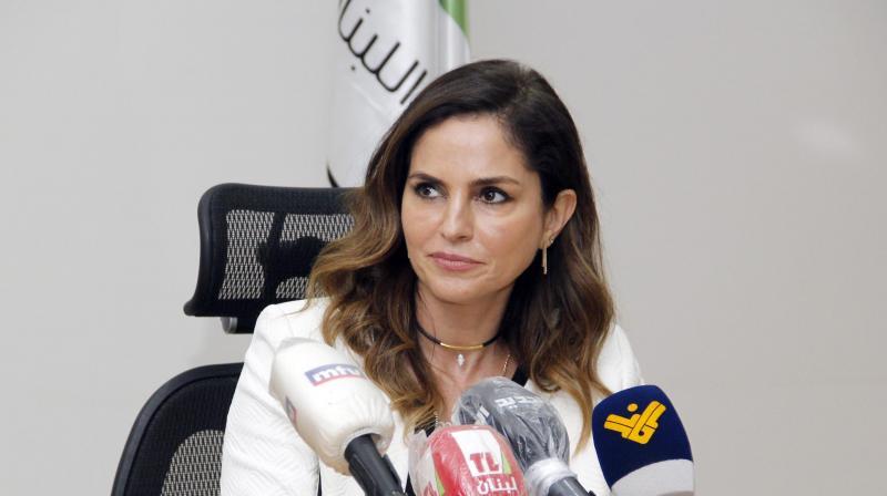 Lebanon's Information Minister Manal Abdel Samad. (AFP)