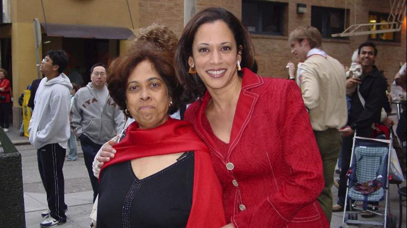 US Senator Kamala Harris with her mother, Shyamala. (AP)