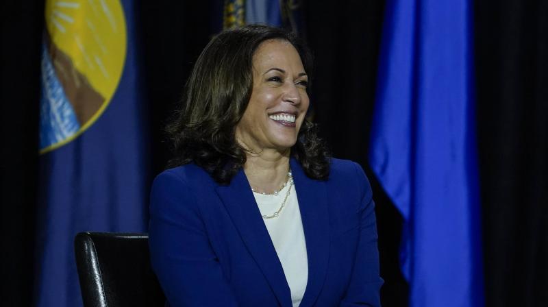 Democratic presidential candidate former Vice President Joe Biden's running mate Sen. Kamala Harris. (AFP)