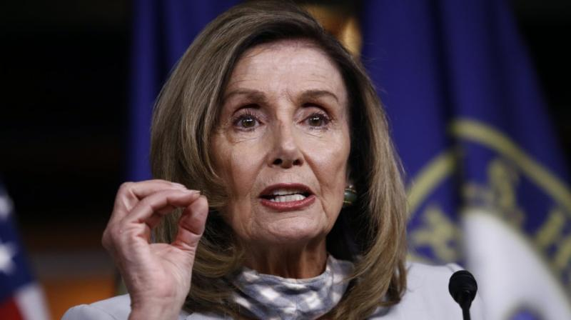 House Speaker Nancy Pelosi of California speaks during a news conference on Capitol Hill in Washington. (AP)