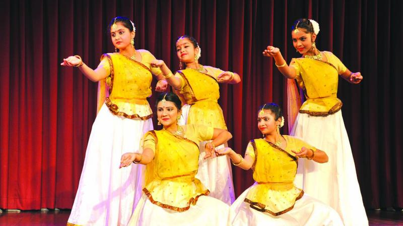 The evening also presented a composition titled 'Basant'.