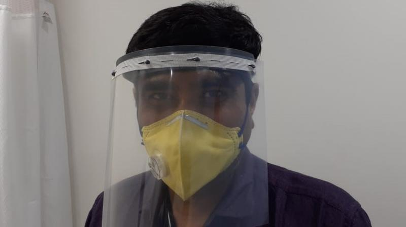 The design of the 3D printed face shields was finalised after healthcare workers gave feedback and adjustments were made to improve the product.