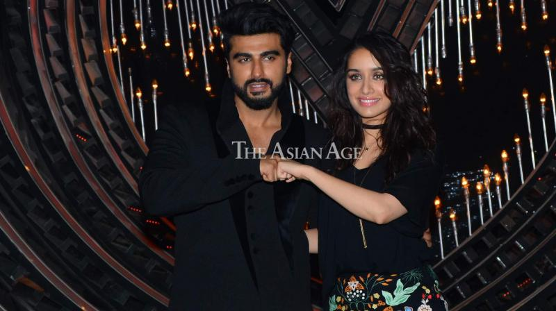 Arjun Kapoor and Shraddha Kapoor brought their reel-life chemistry to real life when they came together to promote their film 'Half Girlfriend' on the reality show 'Nach Baliye' on Tuesday. (Photo: Viral Bhayani)