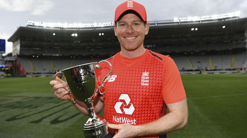 After registering a 3-2 series win over New Zealand in the five-match T20I series on Sunday, England skipper Eoin Morgan hailed the side's bench strength and added it will give the team's management a real good headache ahead of the series against South Africa. (Photo:AP)