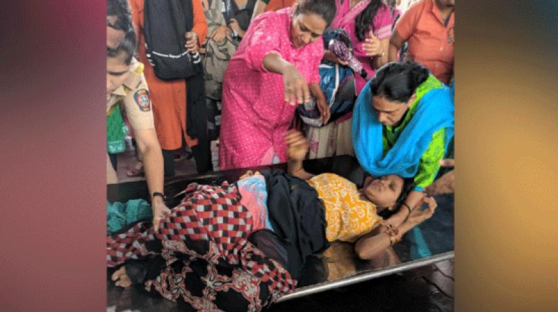 Woman's family thanked the railway authorities, doctors and other staff for rendering timely assistance. (Photo: ANI)