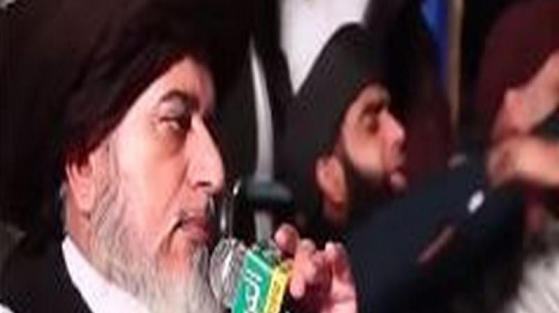 Khadim Rizvi is the founder of Tehreek-e-Labbaik Pakistan, a religious-political organisation founded in 2015 known for its protests against any change to Pakistan's blasphemy law. Some of their protests have been on a large scale. (Photo: ANI)