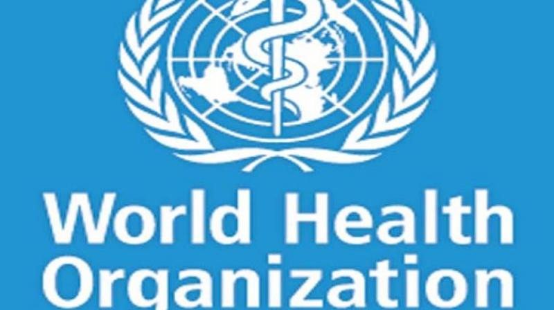 Logo of the World Health Organisation.