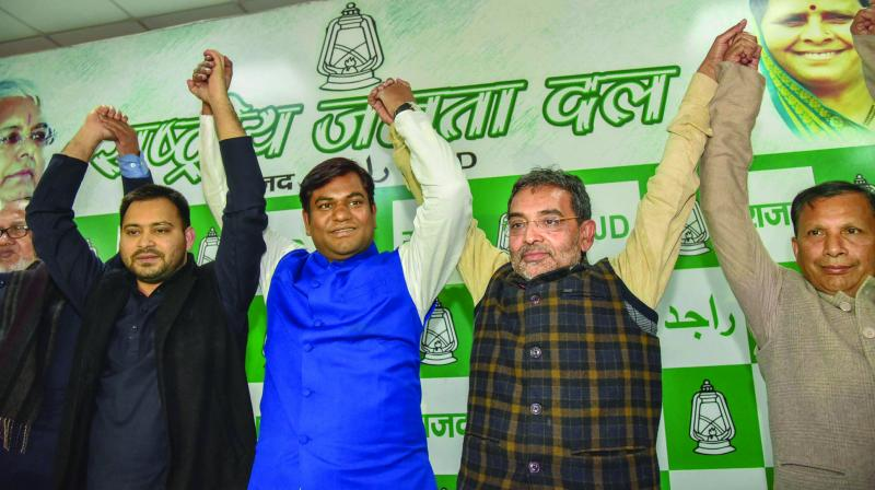 A file photo of regional leaders before the setback in the 2019 Lok Sabha election.