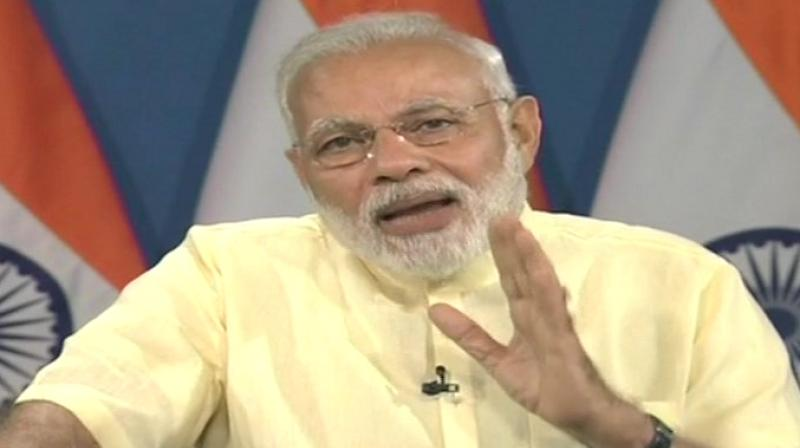 Prime Minister Narendra Modi said for providing good medical facilities to the poor and those residing in rural areas, more than 90 medical colleges have been opened and 15,000 MBBS seats increased. (Photo: ANI/Twitter)