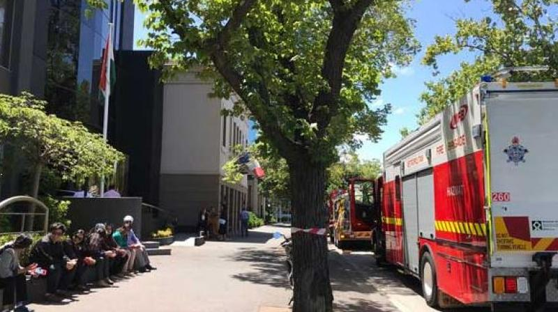 The Metropolitan Fire Brigade (MFB) said it was assisting the Australian Federal Police at a number of incidents at embassies across Melbourne. (Photo: Twitter)
