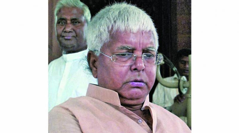 RJD president Lalu Prasad Yadav has been convicted in the multi-crore fodder scam cases. (Photo: File)