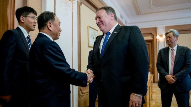 Pompeo spoke after emerging from more than eight hours of talks over two days with North Korean leader Kim Jong Un's right-hand man Kim Yong Chol in a Pyongyang diplomatic compound. (Photo: AFP)