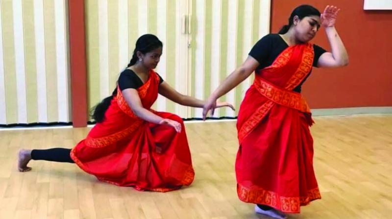 The Nrityalaya Dance School rehearses a choreography on #MeToo stories in Hindu mythology