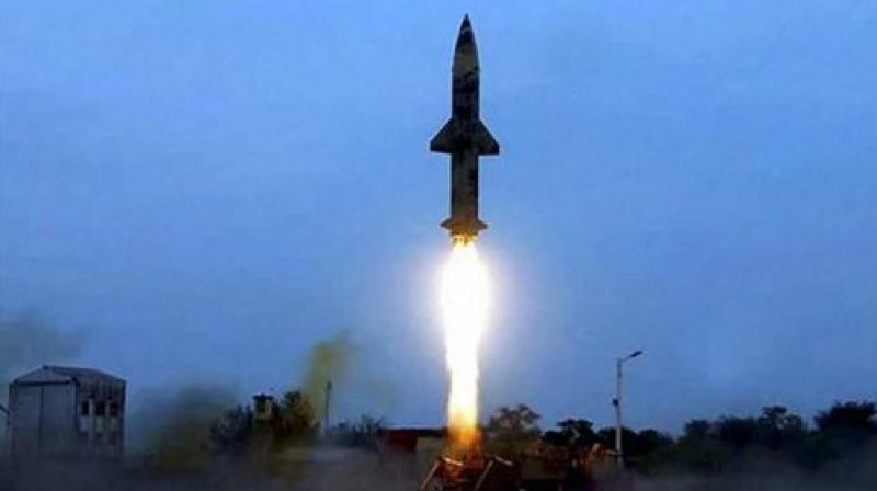 India successfully test-fired its nuclear-capable Prithvi-II missile, which can carry a 500 kg to 1,000 kg warhead, in Chandipur near Balasore. (Photo: PTI)