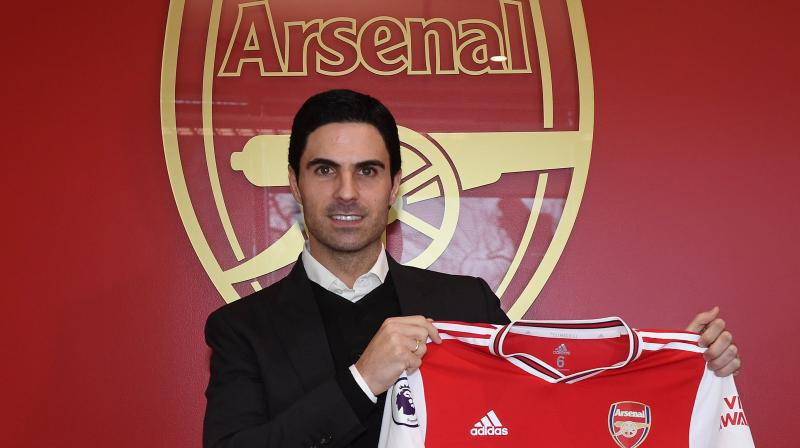 England football club Arsenal on Friday confirmed the appointment of Mikel Arteta as the new head coach of the side. (Photo: Twitter/ Arsenal FC)