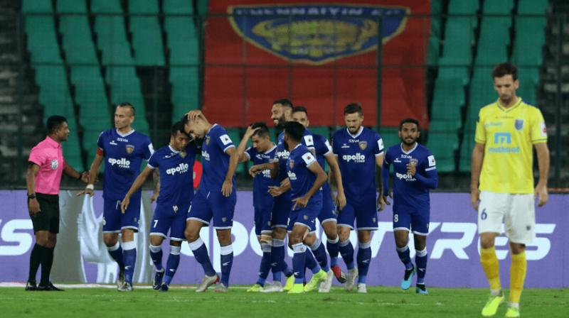 Chennaiyin FC defeated Kerala Blasters FC 3-1 in an Indian Super League encounter here on Friday to secure its second win of the 2019-'20 season. (Photo: Twitter)