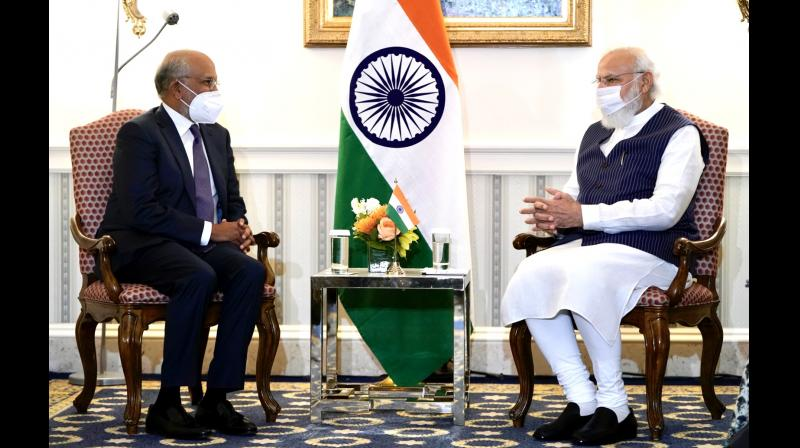 In PM's meeting with the president and CEO of Adobe, Mr Shantanu Narayen, the focus was on on India's flagship programme Digital India, and the use of emerging technologies in sectors like health, education and R&D. (Twitter)