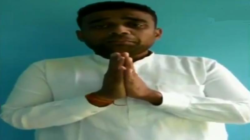 'I arranged the Dussehra event to bring everyone together. I had taken all the permissions... Had spoken to police, (municipal) corporation, fire brigade,' Saurabh Mithu said in a video in Punjabi. (Photo: ANI screengrab)