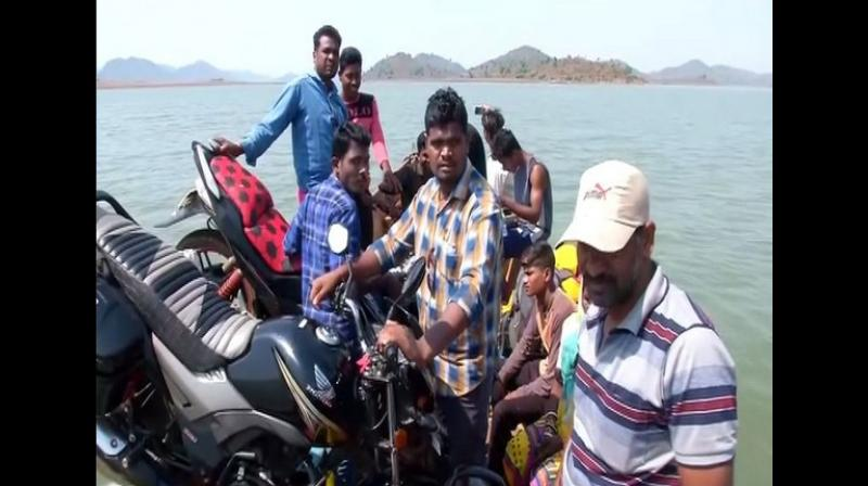 Locals in the region have claimed that they have no option but to travel by boats, even to hospitals and schools, as there are no other means of transportation. (Photo: ANI)